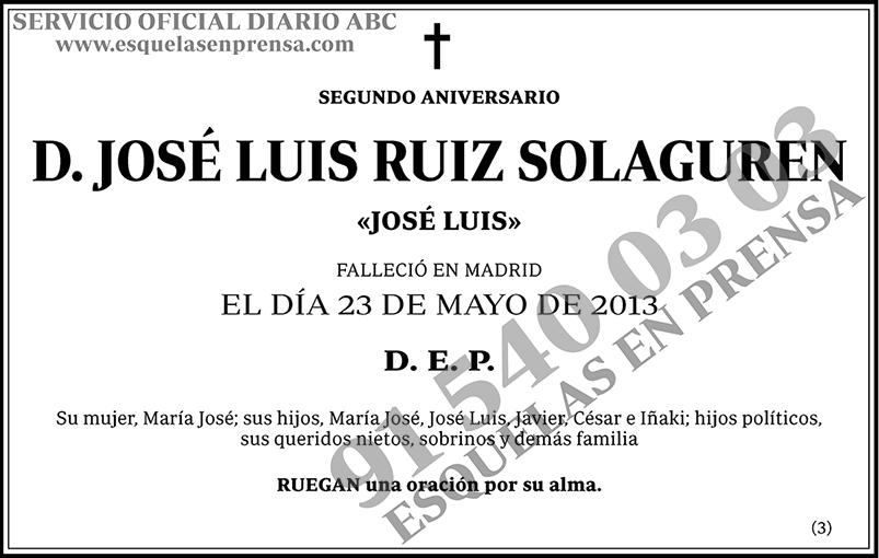 José Luis Ruiz Solaguren